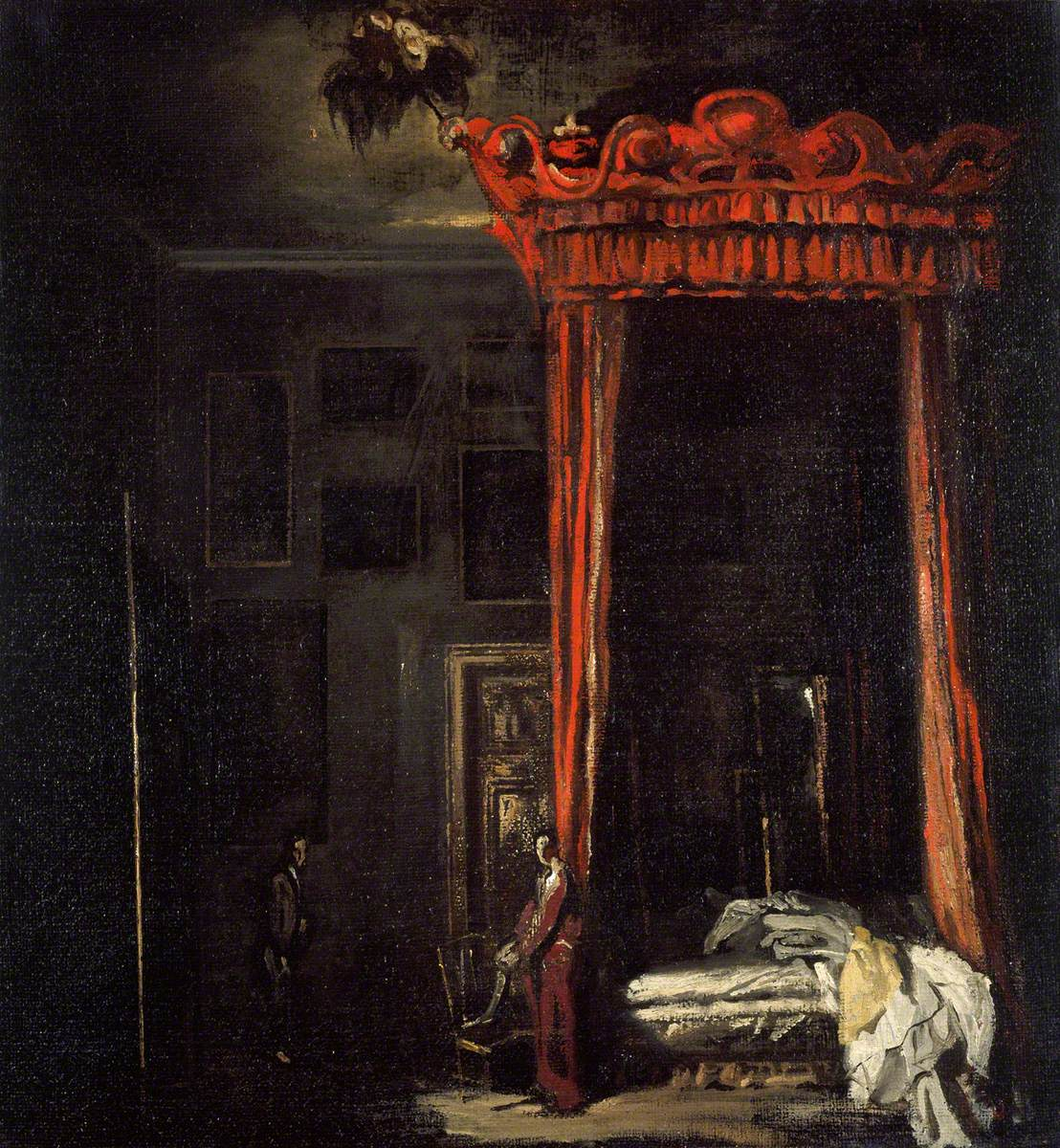 Painting, The Red Bed