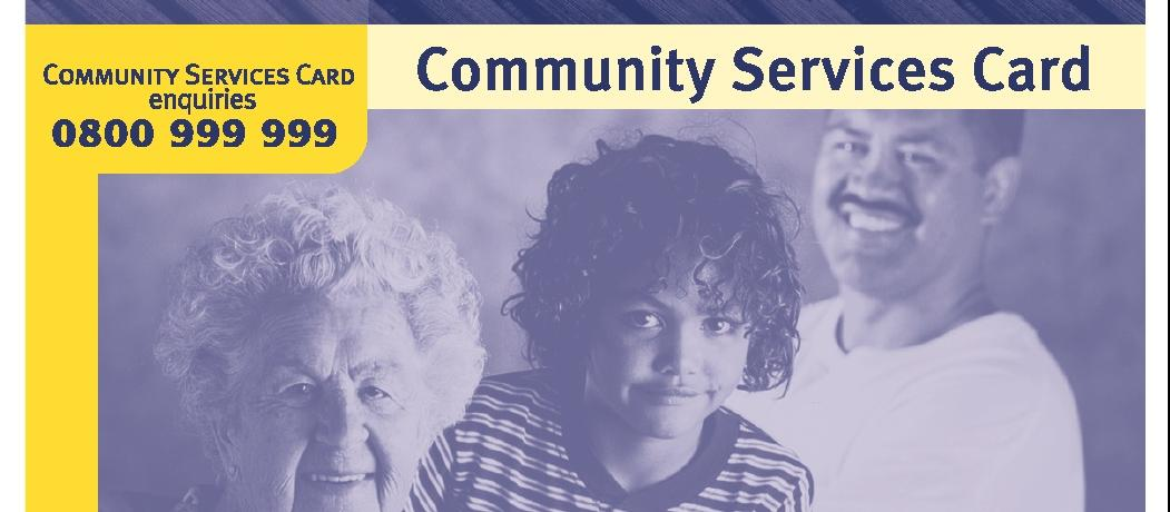 community services card