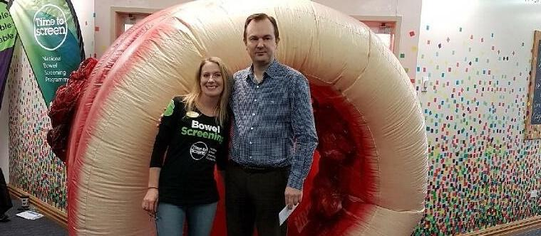 Jason Hill, Emma Bell, Southern DHB bowel screening rollout 2018