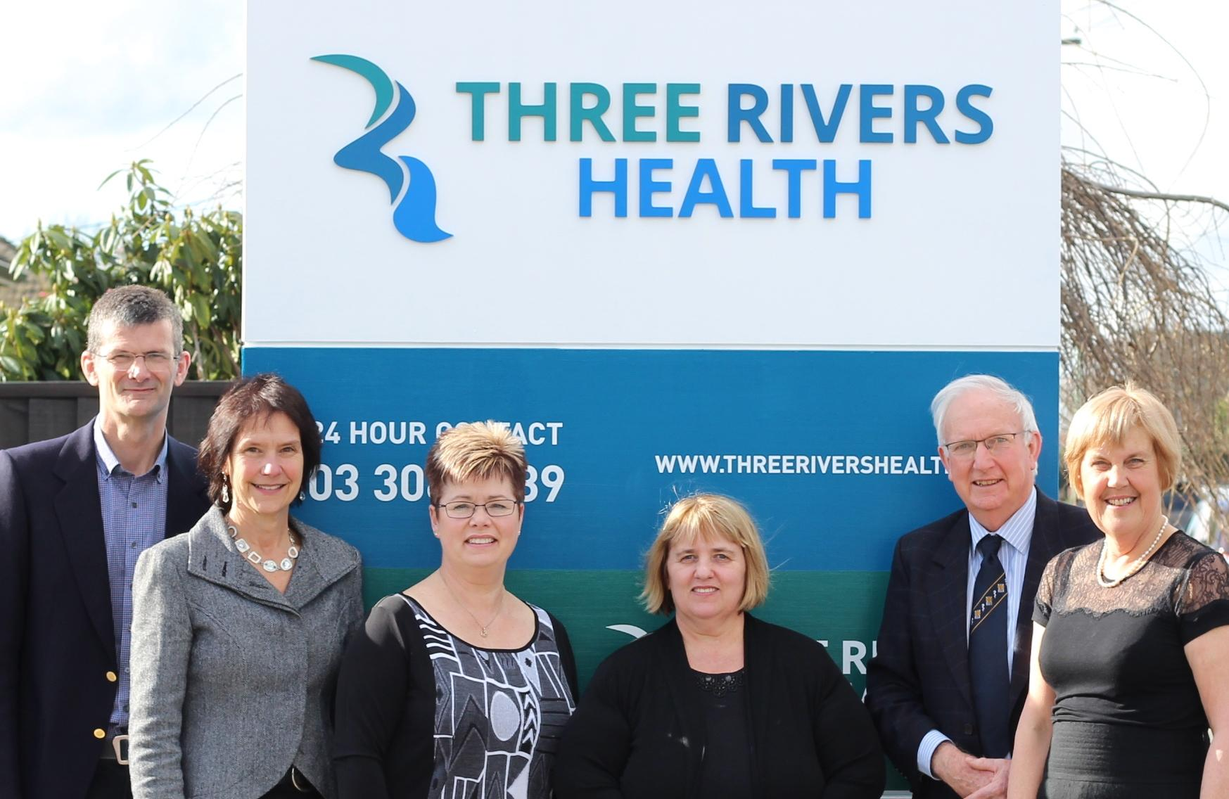 Malcolm Wootton, GP, Sherry Wootton, Penny Holdaway, GP, Nicky Webb, practice manager, John Guthrie, GP, Margaret Guthrie