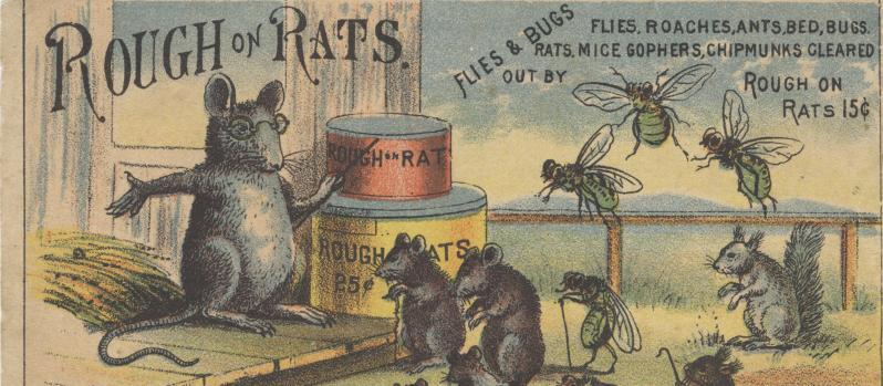 Pest control ad - source: Flickr Victorian Trade Cards Collection