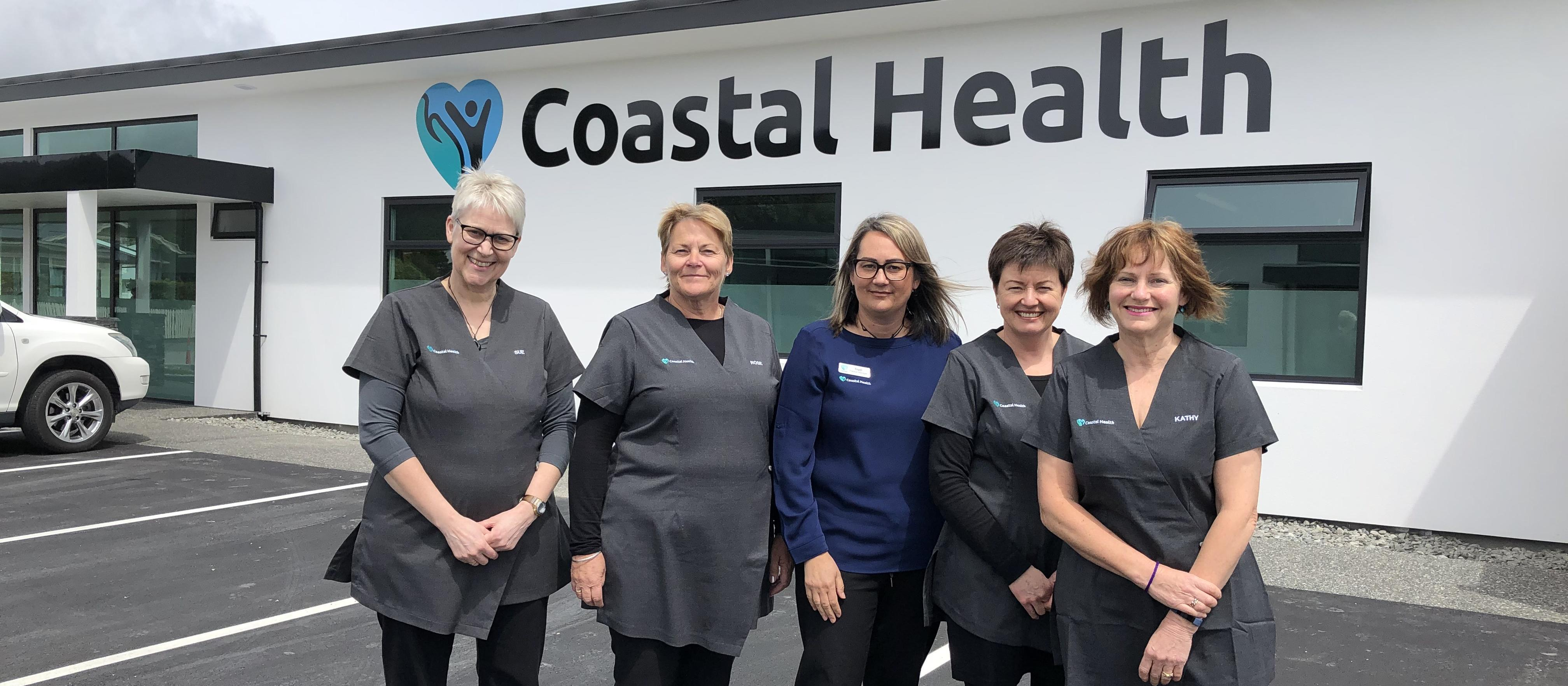 Coastal Health owners from left: Sue Griffin, Rose Ruddle, Trudi McGrath, Michelle Robb and Kathy Hines