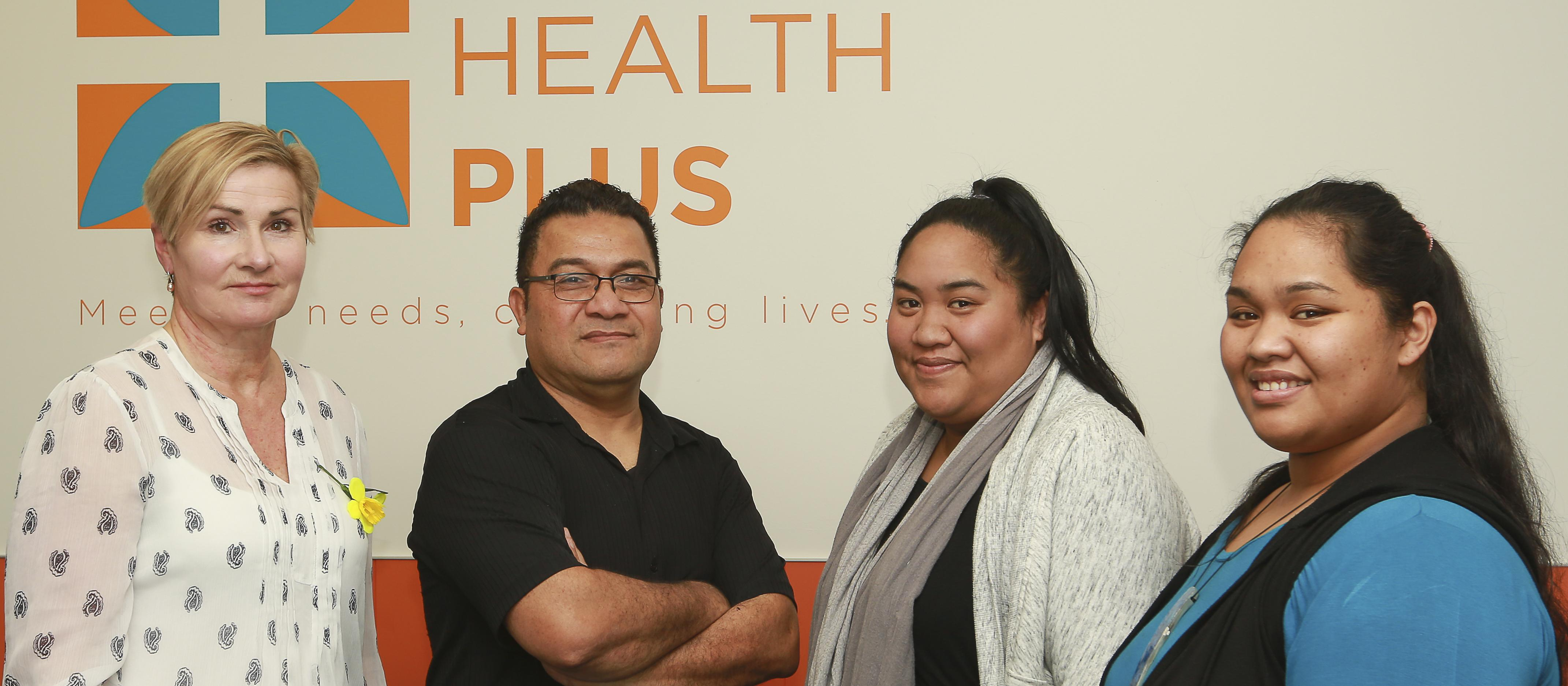 Practice manager Robyn Lush, GP Esela Natano and practice nurses Isabella Mapusua and Grace Tinielu of Pacific Health Plus