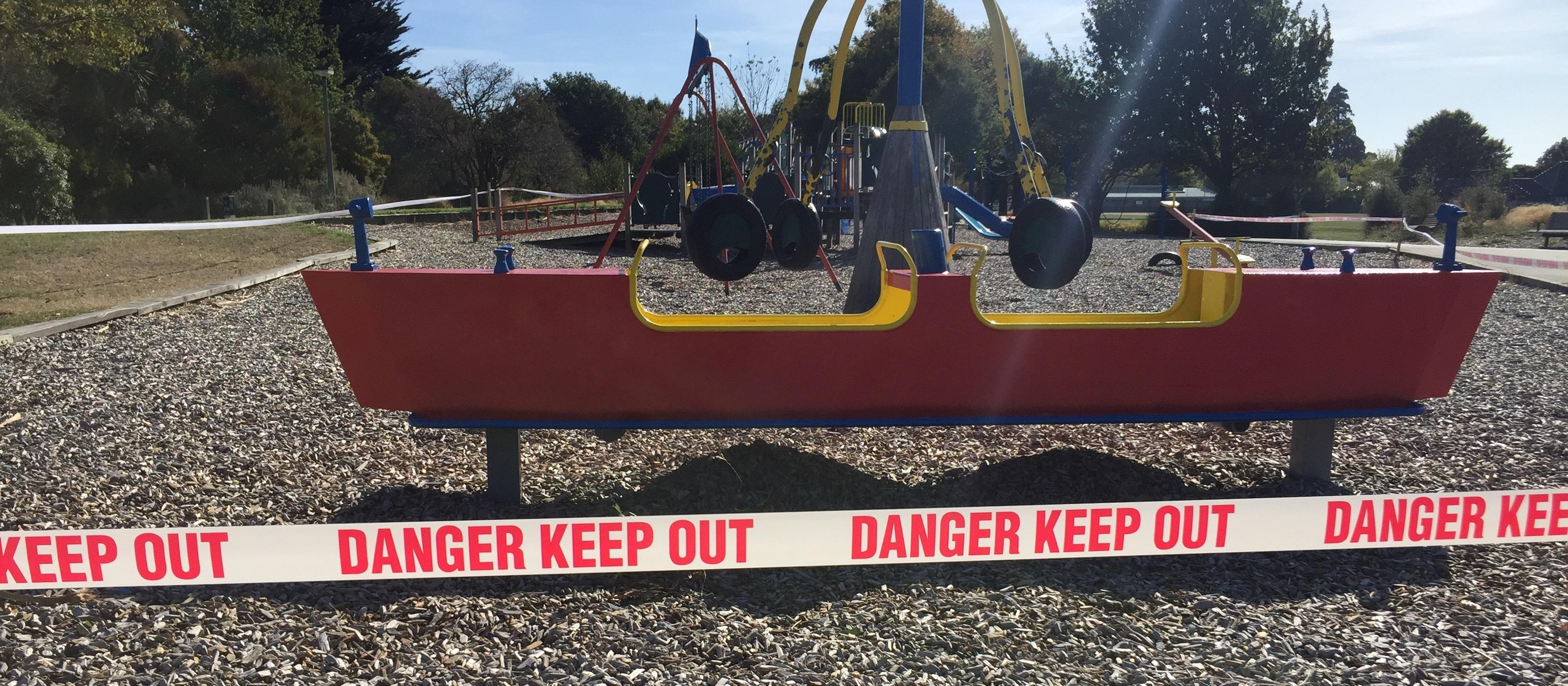 Playground shut as NZ moves to  COVID-19 Lockdown