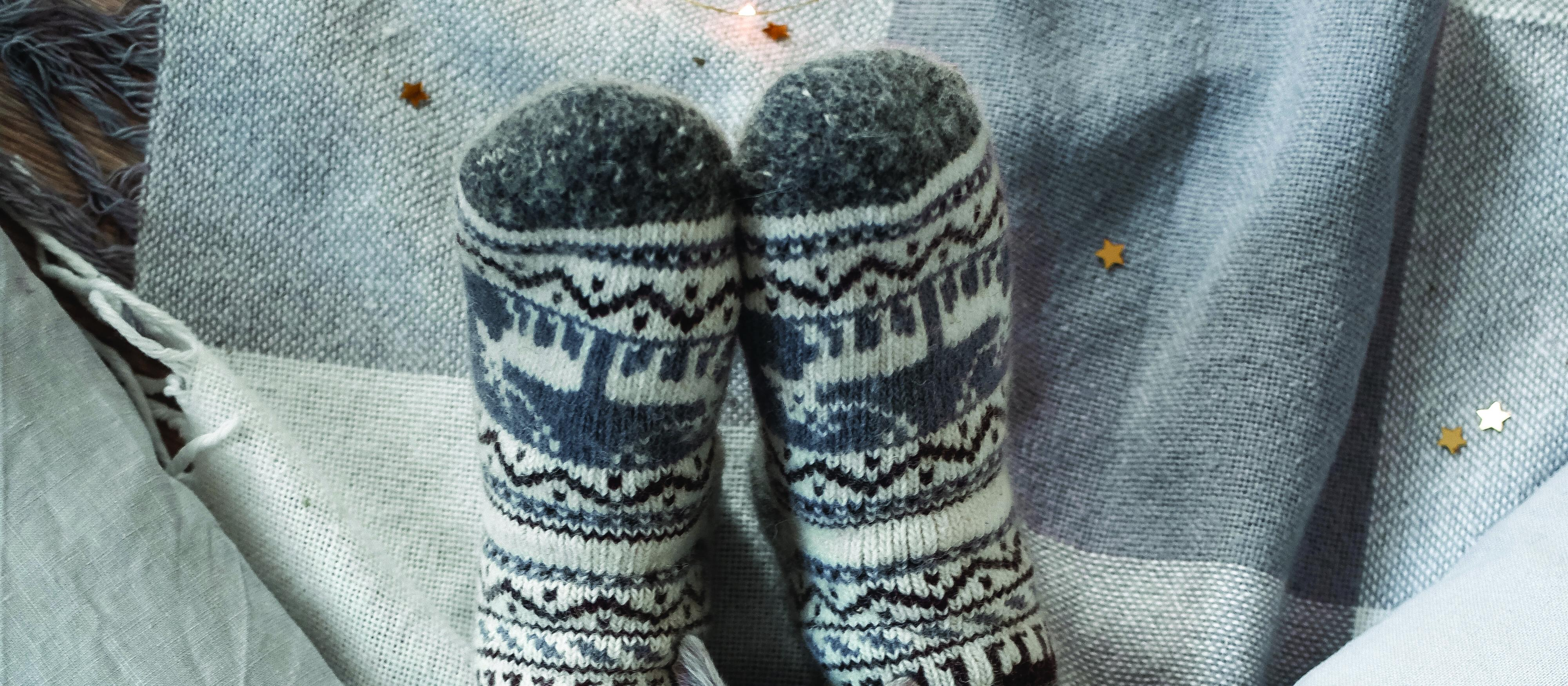 Woolly socks, winter warmers, cat, warmth