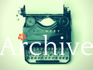 Archive green typewriter