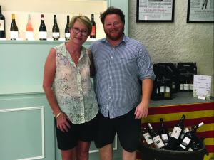 Pippa MacKay with William the winemaker