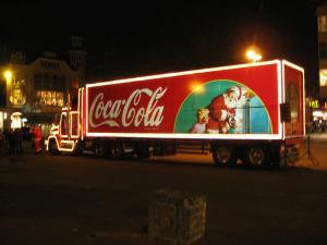 Coca-Cola Christmas truck in Utrecht, the Netherlands: Photo: By User: Husky - Wikicommons