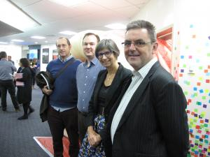 WellSouth medical director Stephen Graham, SDHB gastroenterology medical director Jason Hill, national bowel screening clinical director Susan Parry, and SDHB chief executive Chris Fleming