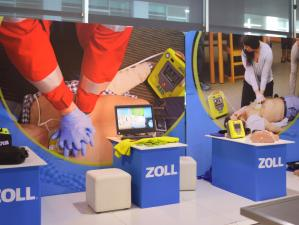 CPR equipment from Zoll Australia in the exhibitor's lounge at the CAA Congress 2018