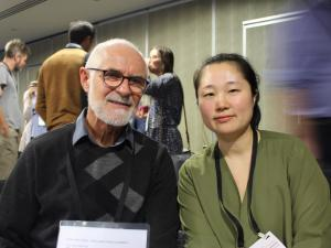 GP Greg Judkins and registrar poetry competition winner Narae Song