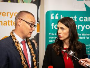 David Clark and Jacinda Ardern