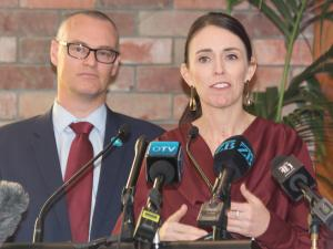 David Clark and Jacinda Ardern at Newtown