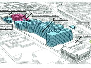Site plan of the new Dunedin Hospital scheduled for completion in 2028