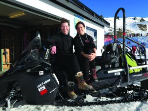 Connor Van Den Berg (left) & Rebecca (Bex) Wire, Cardrona
