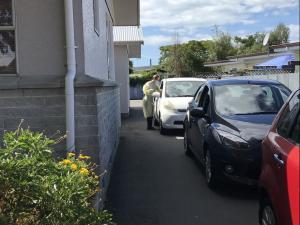 Influenza vaccination drive-through Tamatea Medical Centre during Covid pandemic March 2020