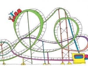 squiggly green roller coaster
