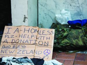 Poverty - Homeless sign