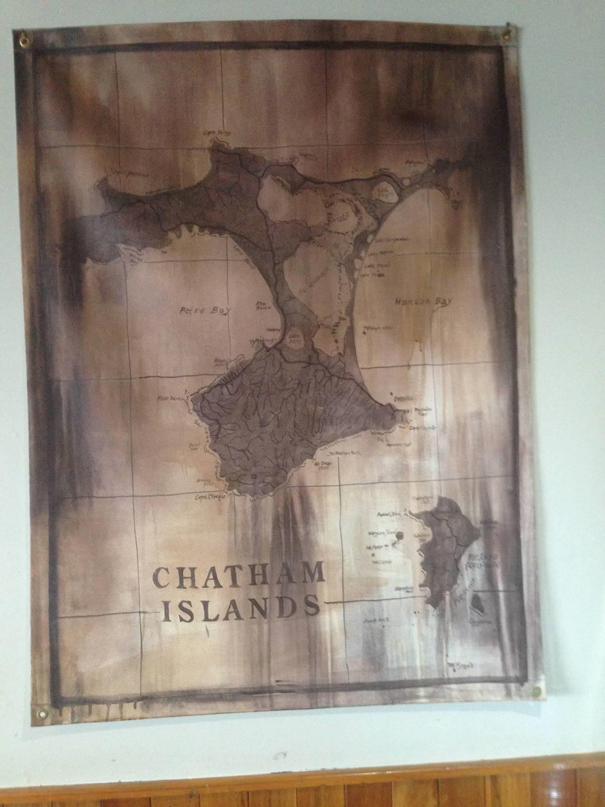 Map of Chatham Islands