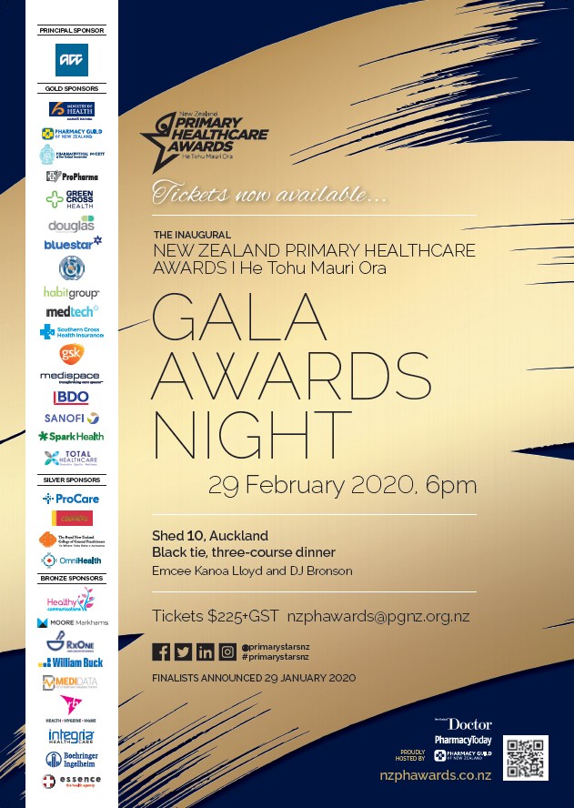 Tickets to the Gala Awards evening are now available