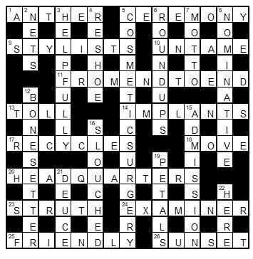 Get off woman horse crossword clue