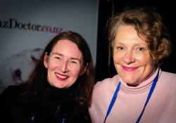 Barbara Fountain (left), New Zealand Doctor editor and Anna Mickell, The Health Media Limited general manager